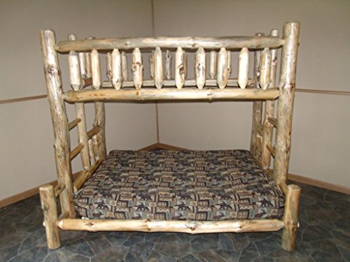 Twin over Twin Rustic Log Bunk Bed for Sale