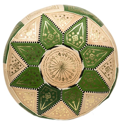 Beautiful Moroccan Leather Pouf for sale