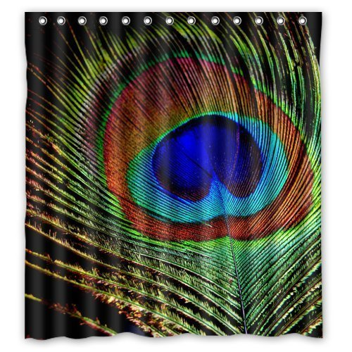 Beautiful Peacock Feather Shower Curtain