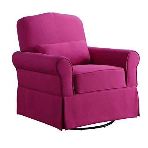 Pink Swivel Glider Rocker Chair