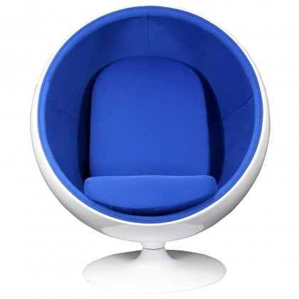 Ball Chair in Blue