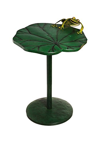 Climbing Frog Lotus Handmade Metal Patio Side Table