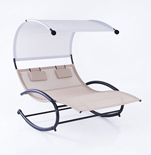 Double Outdoor Chaise Rocker Chair
