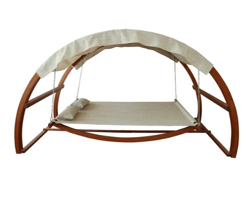Hammock Style Swing Bed with Canopy