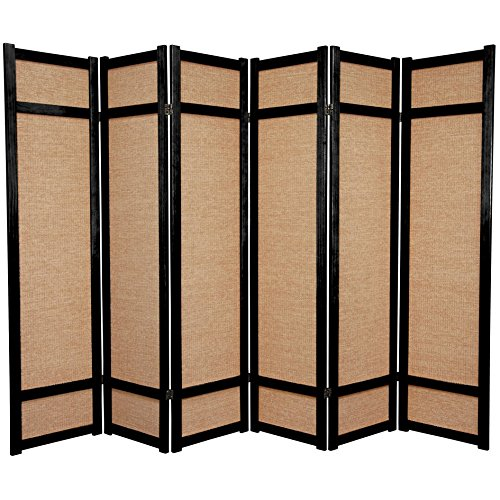 6 Panel Japanese Shoji Privacy Floor Screen Room Divider