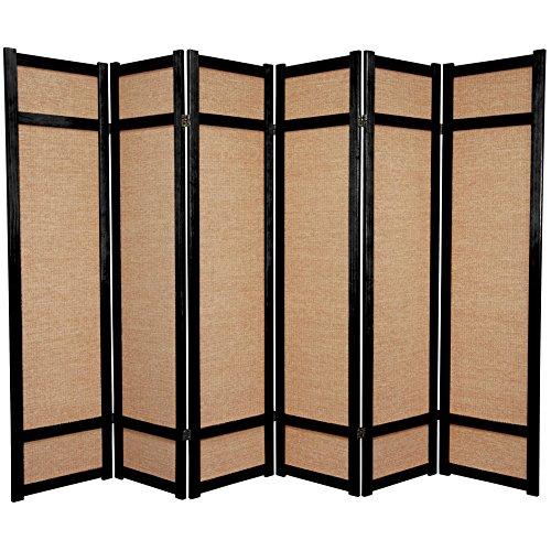 6 Panel Japanese Shoji Privacy Floor Screen Room Divider
