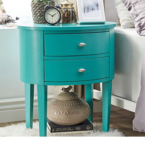 Turquoise Blue End Side Table