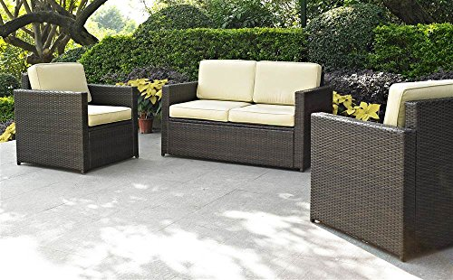 Small 3 Piece Outdoor Wicker Seating Set