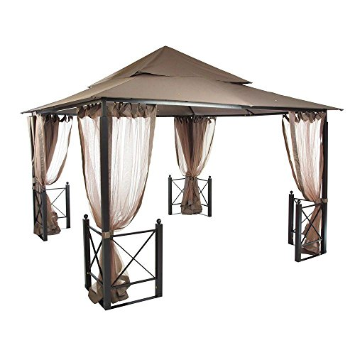 Spacious Outdoor Gazebo with Mosquito Netting