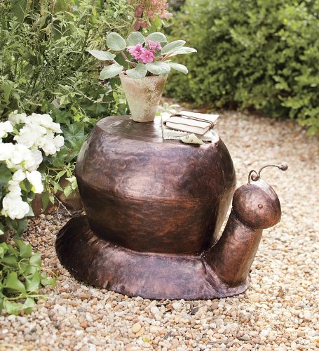 Cute Snail Recycled Metal Side Table