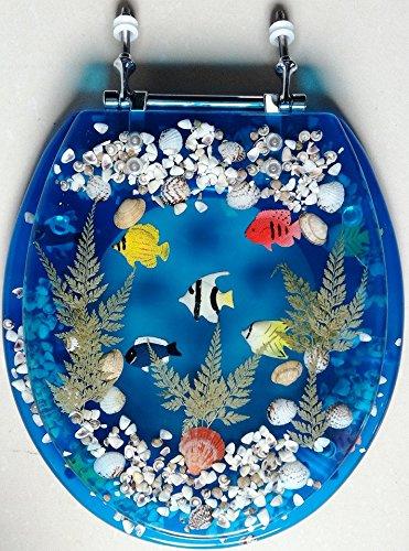 Transparent Fish Aquarium Standard Size Toilet Seat