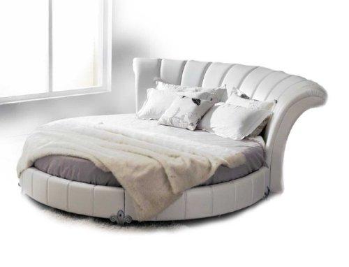 Beautiful White Round Bed