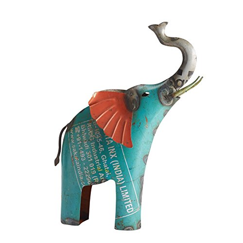 Elephant Recycled Metal Garden Statue