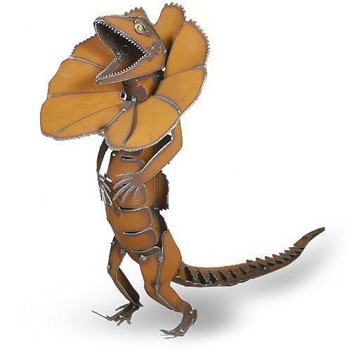 Frilled Neck Lizard Handcrafted Metal Sculpture