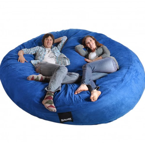 8 Feet Round Royal Blue XXXL Foam Bean Bag Chair