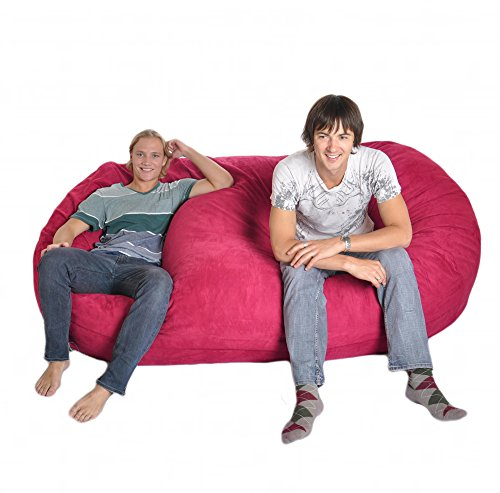 8 Foot Huge Foam Microsuede Beanbag Chair Microfiber Lounger