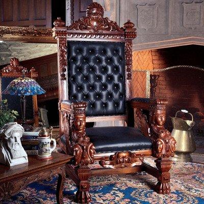 Solid Mahogany Throne Chair