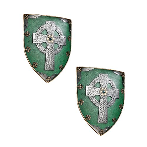 Classic Celtic Medieval Warriors Sculptural Wall Decor Armor Shield