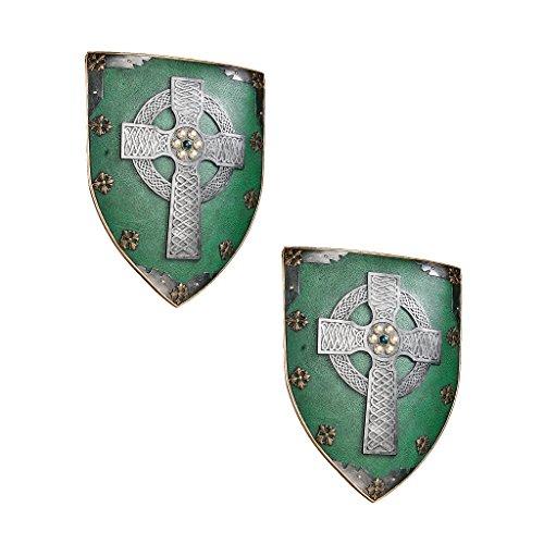 Classic Celtic Medieval Warriors Sculptural Wall Decor Armor Shield