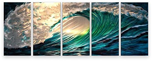 Metal Wall Art Abstract Modern Seascape