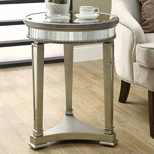 Cute Round Shape Mirrored Side Table