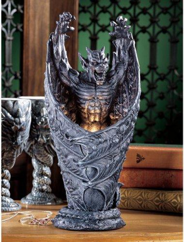 Exotic Vampire Medieval Gothic Dragon Gargoyle Sculptural Lamp