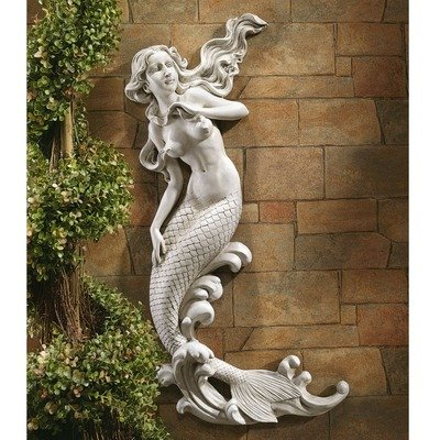 Nude Mermaid Cove Wall Sculpture