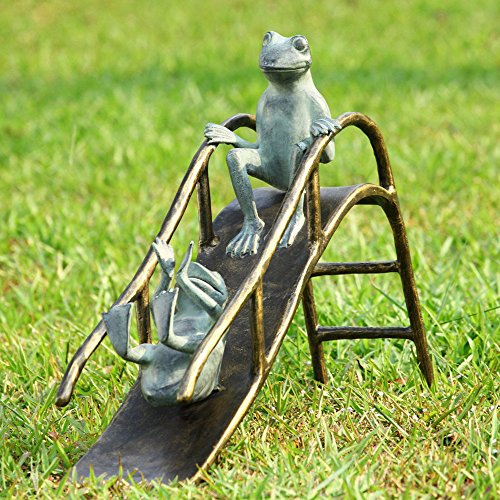 Frogs Metal Garden Statue