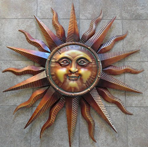 Sun Face Large Wall Hanging Metal Art