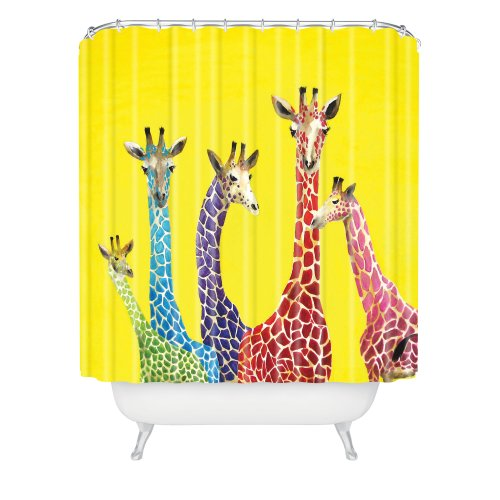 Colorful Giraffes Shower Curtain
