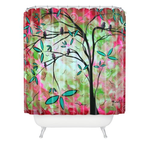 Birds on Tree Branch Shower Curtain