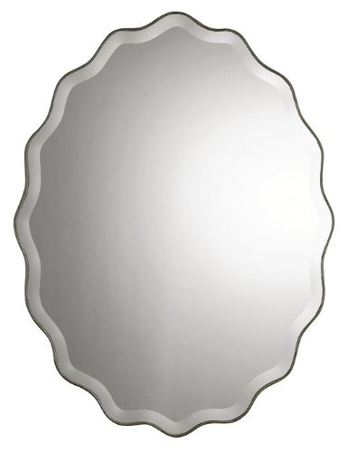 Oval Silver Decorative Mirror