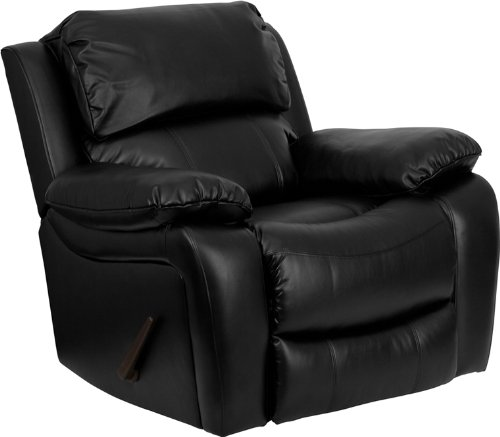 comfy Black Leather Recliner for back