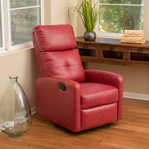 cute Red Leather Recliner