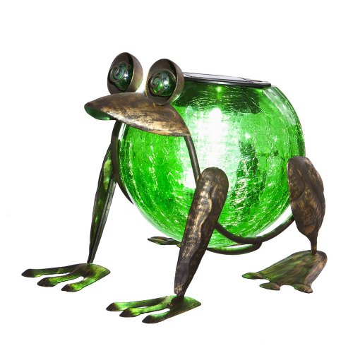 funny solar powered frog