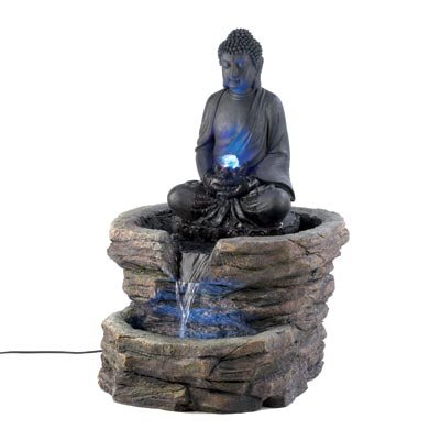 Meditating BUDDHA Statue Outdoor Fountain