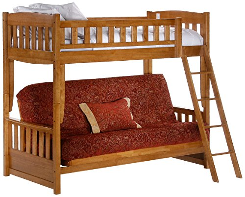 Futon Bunk, Medium Oak Finish