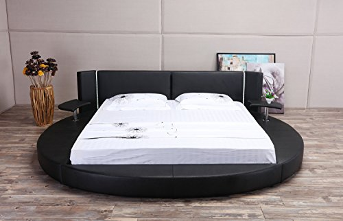 Black Round Bed Queen Size