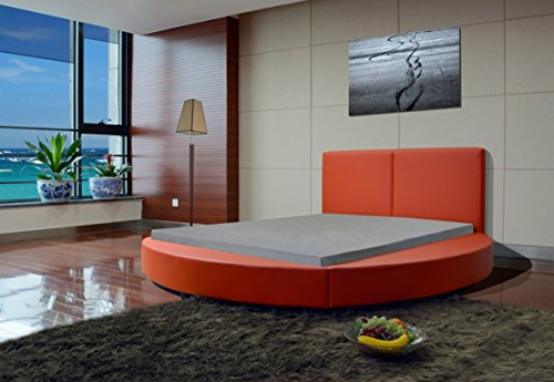 Queen Red Modern Round Bed