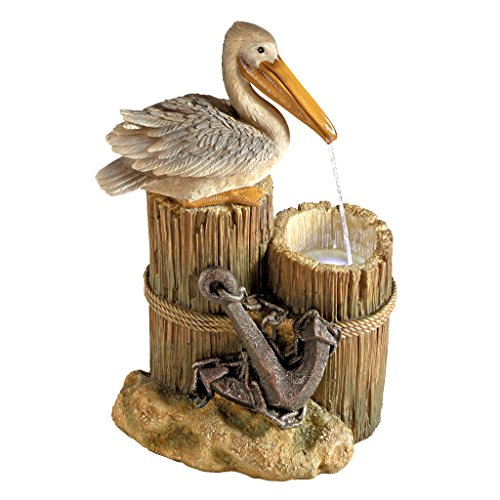 Pelican Water Fountain with LED Light