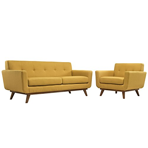 yellow living room furniture