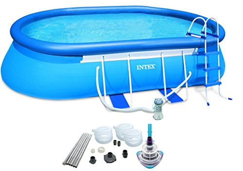 Oval Frame Pool Set w Filter Pump