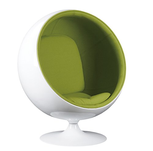 green ball shaped chair