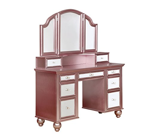 beautiful pink color vanity set