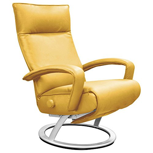Yellow Leather Recliner