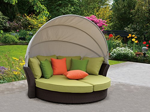 Oval Daybed with Canopy