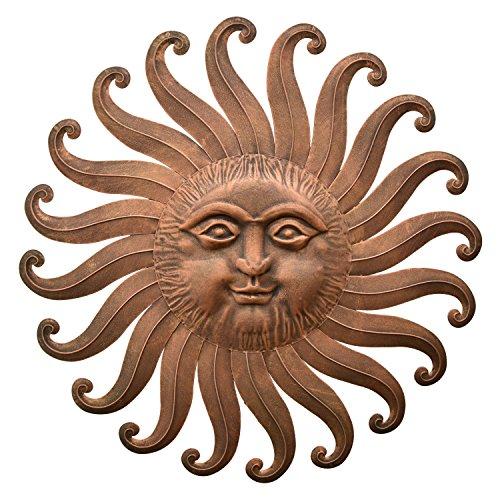 Metal Sun Face Wall Decor