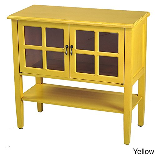 Yellow Console Cabinet