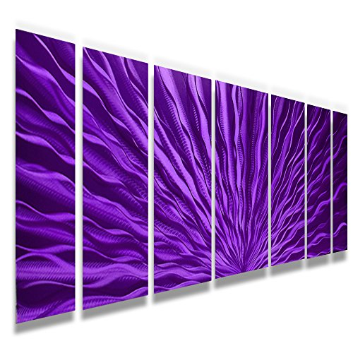 beautiful metal wall hanging purple