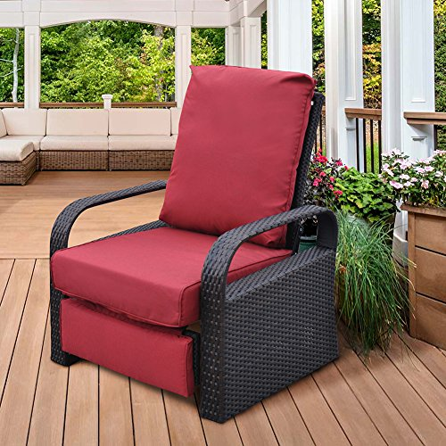 Patio Recliner Chair with Cushions